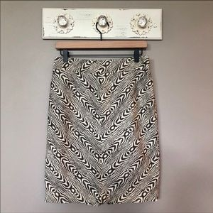 Anthro Postmark | Wood Grain Print Pencil Skirt